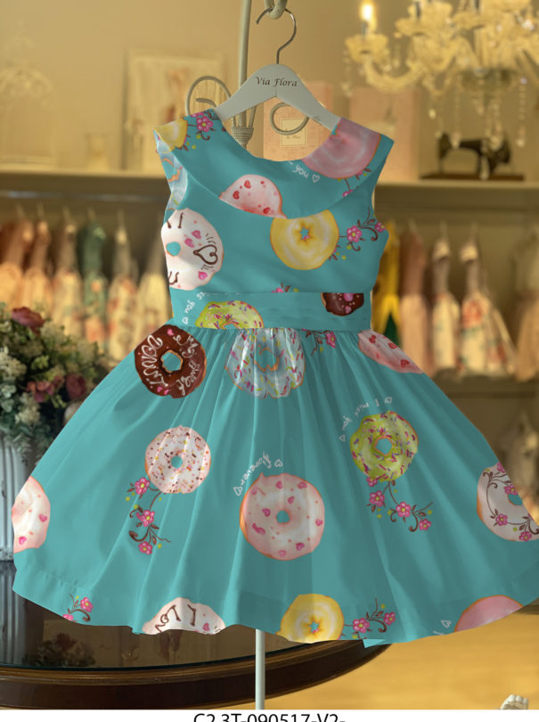 Vestido Dreams Gola  – Donuts / Tiffany