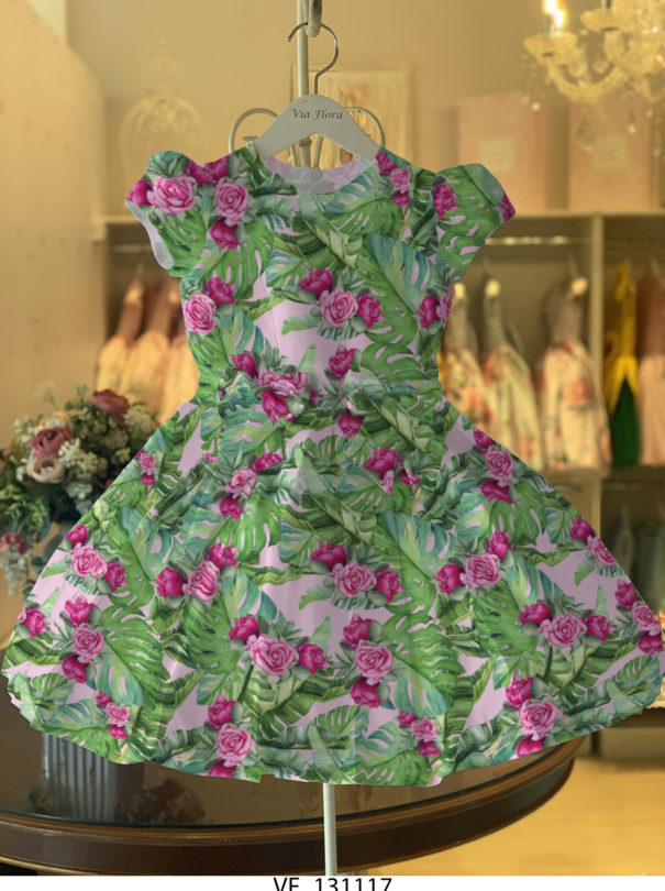 Vestido Dreams Pregas  – Tropical